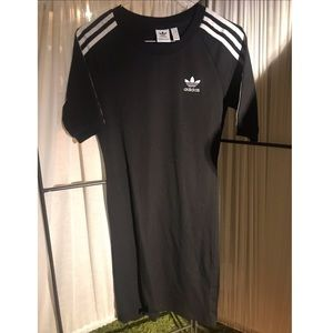 Black Adidas stretchy T shirt dress in Small! NWOT